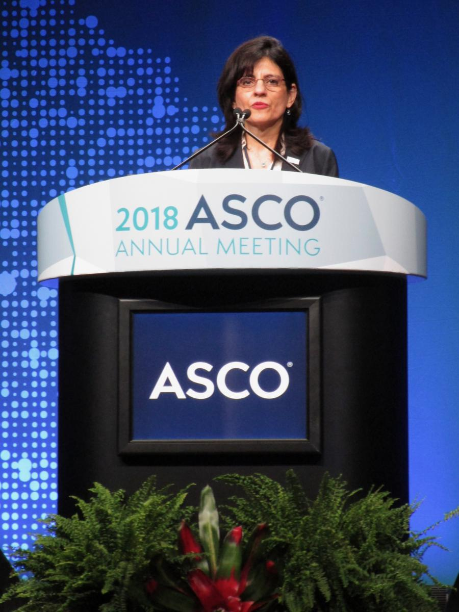 Susan Halabi, PhD, presented her findings at the 2018 ASCO Annual Meeting